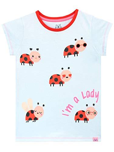 Harry Bear Camiseta de Manga Corta para niñas Mariquita Azu