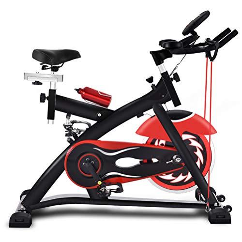 MYYINGELE Upgraded Heimtrainer Fahrrad - Fahrradergometer mit Pulssensoren Trainingscomputer, Magnetbremse, Schwungmasse 10 kg - Ergometer für EIN max. Nutzergewicht von 180kgFitnessstudio, A