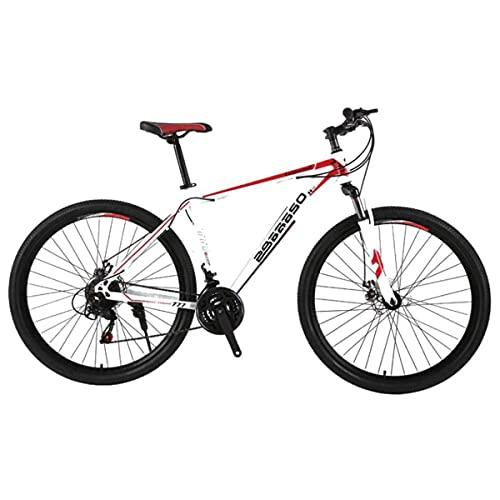 Bicicleta De Montaña para Hombre De 21 Velocidades Freno De Disco Doble 29 Pulgadas Bicicletas Urbanas Todoterreno Solo para Adultos Ciclismo Al Aire Libre Cola Dura Suspensión Delantera,B