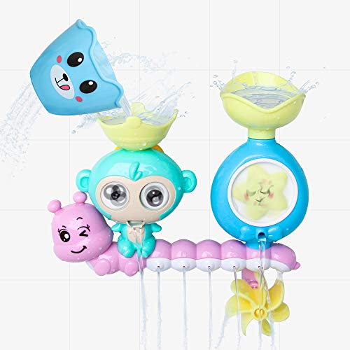 zoordo Baby Bath Toy, Bathroom Toy Water Shower Waterfall Station Bathtub Game with 1Cup Idea Gift for 2 3 4 Year Old Kids Toddlers