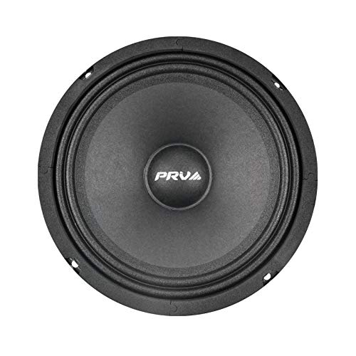 PRV AUDIO 8MR400-NDY-4 8 Inch Midrange Speaker Slim, Lightweight Neodymiun Mid Range Loudspeaker, 8 inches, 4 Ohms, 200 Watts RMS, 400 Watts Program Power, 2.95  Depth Shallow Profile (Single)