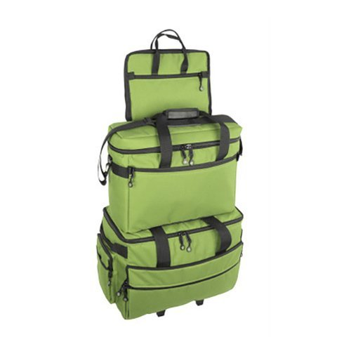 Bluefig 3 Piece Sewing Machine Trolley Set in Lime Green