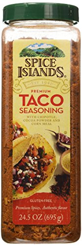 Spice Islands Premium Taco Seasoning with Chipotle Cocoa Powder and Corn Meal, 24.5 Ounce