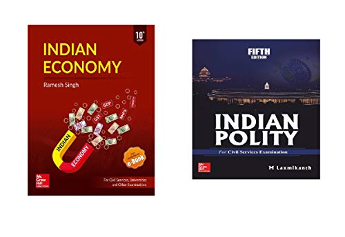 Indian Polity +indian economy (iNDIAN POLITY 5 Edition By M LAXMIKANTH and INDIAN ECONOMY By RAMESH SINGH) Especially The Civil Services Examinations.Help Book Of Competitive Examinations IAS Preparation  (Paperback, M. Laxmikant) Indian Economy by Ramesh singh : For Civil Services, Universities and Other Examinations (English, Paperback, Ramesh Singh)