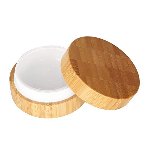 4er 30 g / 30 ml 1 oz Kosmetische Leere Kosmetikbehälter Dosen Gel Creme Leerdose Kosmetische Behälter Bambus-Dose, Töpfe,Natur Aufbewahrungsbox mit Innenfutter