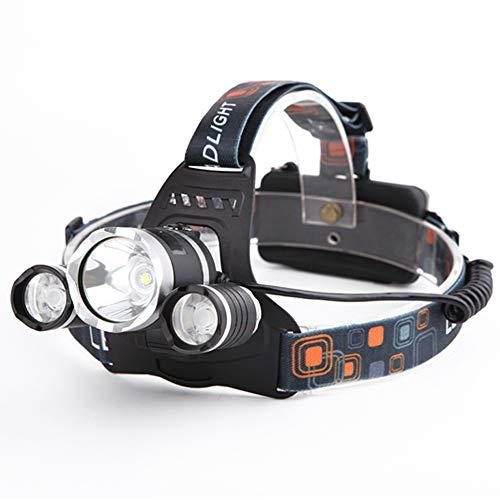 Yizhet Linterna Frontal LED Recargables Luces Super Brillantes,4 Modos de Luz y hasta 300 Metros Cabeza Impermeable para Camping/Pesca/Ciclismo/Carrera/Caza 🔥
