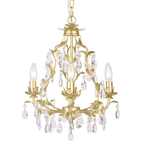 Firefly Home & Kids Lighting Isabella Crystal Chandelier in Gold, H18