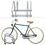 Rotemion Aparcamiento para bicicletas soporte y organizador para 2 bicis para interior y exterior para pared y suelo