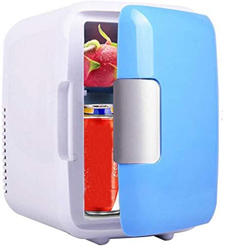 LVYE1 AUTO Mini-Kühlschrank, 12V 4 Liter Tragbarer Mini-Kühlschrank Kühler Und Wärmer Mit AC/DC-Netzkabeln, Super Leise Fahrzeuginterne Gefriertruhe Für Zu Hause,Blau