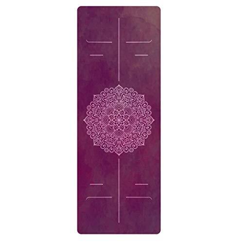 XINGDONG Esterilla de yoga fina de goma de ante para yoga seca y húmeda, antideslizante, amplia toalla de yoga plegable, fácil de almacenar (color: D, tamaño: 4,5 mm)