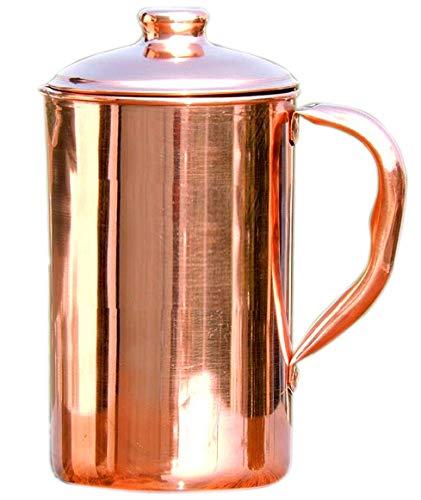 SKAVIJ reines Kupfer wasserkrug mit deckel trinkkrug (1,6 liter)