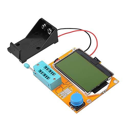 LCR-T4 Mega328 Component Tester Transistor Tester Diode Triode Capacitance LCR ESR Meter Module MOS PNP/NPN M328 (Battery Case)