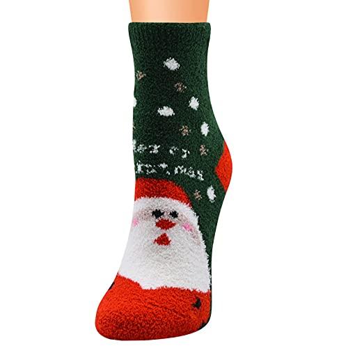 Calcetines de Navidad para mujer, mullidos, 39 – 42, calcetines de invierno cómodos, calcetines redondos, calcetines decorativos, calcetines térmicos, antideslizantes, calcetines de cama