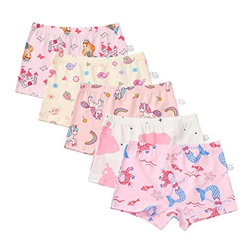 Mädchen Unterhosen,Kinder Unterhosen Unterwäsche,Kleinkind Slip Höschen,Baumwolle Kinder Höschen 5er Pack 2-15 Jahre (B,M-2-3 Years)