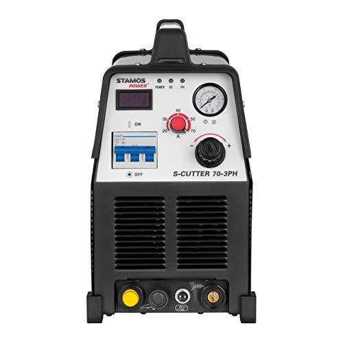 Stamos Power – S-CUTTER 70-3PH – Plasmaschneider (20-70 A, 400 V,20 mm Schneidleistung, Pilotzündung + Zubehör) schwarz - 2