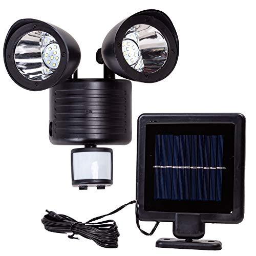 人感 センサーライト 2灯式 フリーアーム ソーラー 充電 防犯 センサー 照明 省エネ エコ