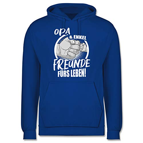 Shirtracer Opa - Opa & Enkel Freunde fürs Leben! - M - Royalblau - Opa und Enkel Freunde fürs Leben Hoodie - JH001 - Herren Hoodie und Kapuzenpullover für Männer