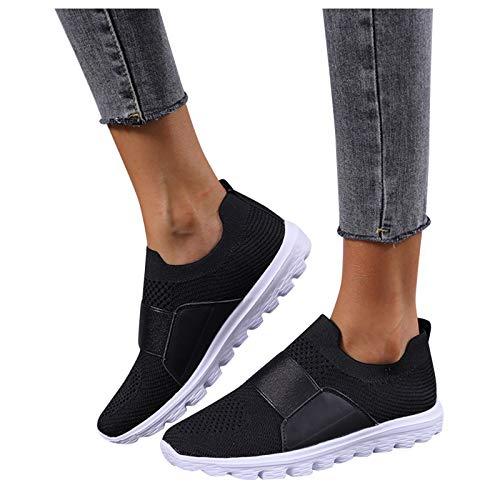 Luckycat Mujeres Zapatillas de Deportivos de Running para Mujer Gimnasia Ligero Sneakers Malla Transpirable con Cordones Zapatillas Deportivas para Correr Fitness Atlético Caminar Zapatos