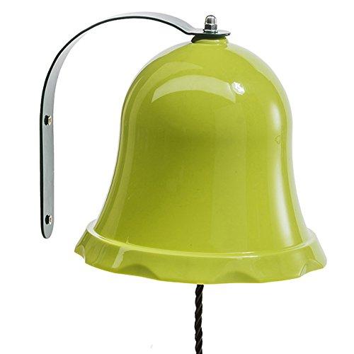 Gartenwelt Riegelsberger Glocke aus Metall APFELGRÜN Spielzeug für Kinder Spielhaus Spielturm