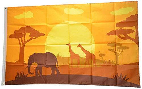 Flaggenfritze® Flagge/Fahne Tiere Afrikas - 90 x 150 cm