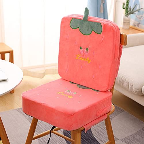 MJLOMJ Rialzo Sedia per Bambini Portatile Lavabile Rialzo per Sedia da Pranzo Antiscivolo Rimovibile 2 in 1 Cuscino per Tavolo da Pranzo per Bambini con Fibbia di Sicurezza,Piazza,6,5+10cm