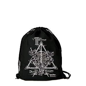 41nfPzkkFDL. SS300  - Logoshirt - Harry Potter - Los Tres Hermanos - Mochila Saco - Bolsa - negro - Diseño original con licencia