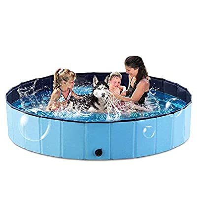 Amazon - 45% Off on Foldable Dog Pet Pool for Kids, Portable Slip-Resistant Cats Dogs Kiddie Swimming Pool