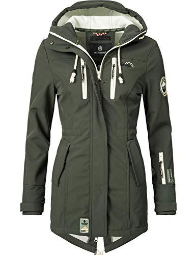 MARIKOO Damen Softshell-Jacke Outdoorjacke Zimtzicke Grün Gr. XXL