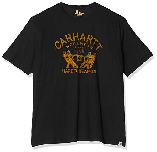 Carhartt .102097.001.S005 T-Shirt Maddock mit Grafik-Druck Hard To Wear Out, Gr. M, Schwarz