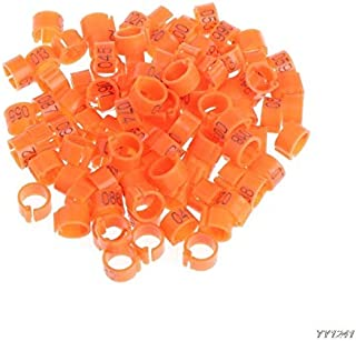 Bird Toys - 100 Pcs 8mm Identify Ring Carrier Pigeon Training Leg Number Bird Bands Farming Equipment W110 - Bands Birds Parrotlets Conures Parakeets Cockatiel Canary Finches Cockatiels Cage