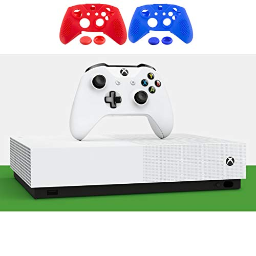 Microsoft - Xbox One S 1TB All-Digital Edition Console with Wireless Controller - Holiday Family Gaming Bundle - Minecraft, Sea of Thieves, Fortnite Battle Royale - iPuzzle 2 Colors Silicone Cover