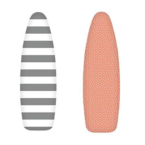 Brabnatia Funda para Tabla de Planchar, Adecuada para Tabla de Planchar de 125x45cm XL, 100% algodón, Cubierta de la Tabla de Planchar Resistente al Calor, con 4 Clips, un Juego de Dos