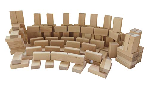 Original Baukid Holzbauklötze, 100 Bauklötze Minis für größere Kinder