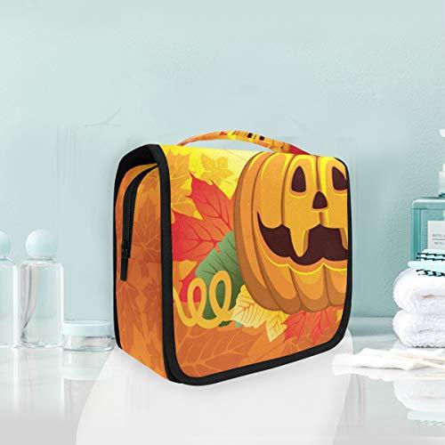 Montoj Großer Kulturbeutel zum Aufhängen, Halloween, Kürbis, Malerei, Muster, Reisen, wasserdicht, multifunktional, Organizer-Tasche
