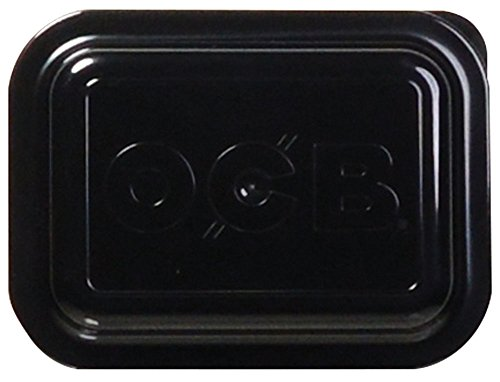 OCB Rolling Tray Lid - Multiple Sizes and Colors (Small, Black)
