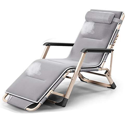 Wj Silla Perezosa Silla reclinable Plegable Siesta Cama Balcón Ocio Silla Trasera Sofá Perezoso Cómodo sillón Relajante Silla Relajante
