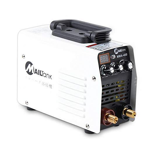 MMA-400 Inverter - Soldadora portátil con electrodos IGBT MMA + accesorios, soldador de electrodos 220 V 20-110 A IGBT, acero al carbono, hierro, cobre