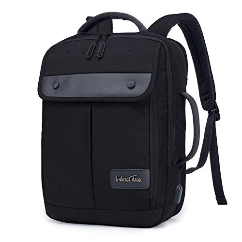 Wind Took Large Laptop Backpack with USB Charging Port for 15.6 Inch Laptop and Notebook Casual Daypack Water Resistant Carrying Bag Rucksack for Travel/Business/College/Women/Men 30 x 12 x 41 cm