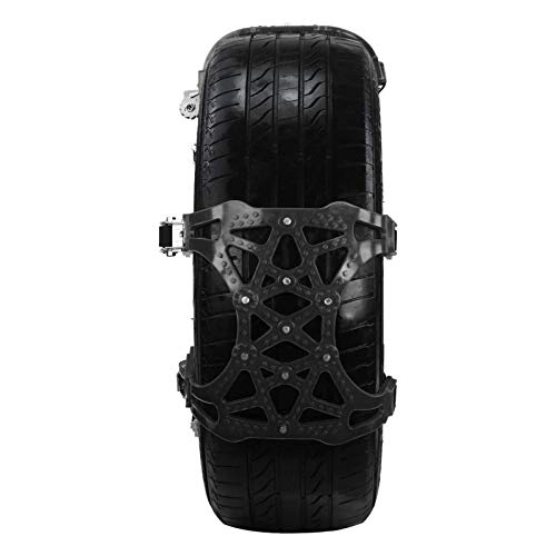 Tire Chains,6PCS Car Chains for Snow 165-265mm Withstand -50 ℃ Car Tire Snow Chains Premium Quality Strong Durable Anti-Skid Tire Chains with Installation Tool,Snow Chains for Car, SUV, ORV