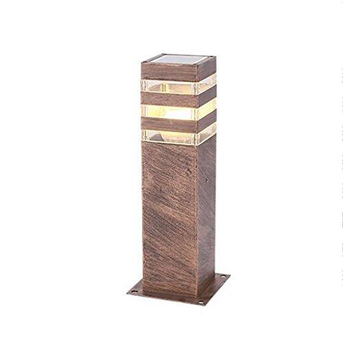 Wubing Lámpara de césped Impermeable Simple de Estilo Americano, luz de la Calle LED súper Brillante Resistente a la Temperatura del Parque Corredor de la Calle 13 * 9 * 40cm (Color : H60CM)