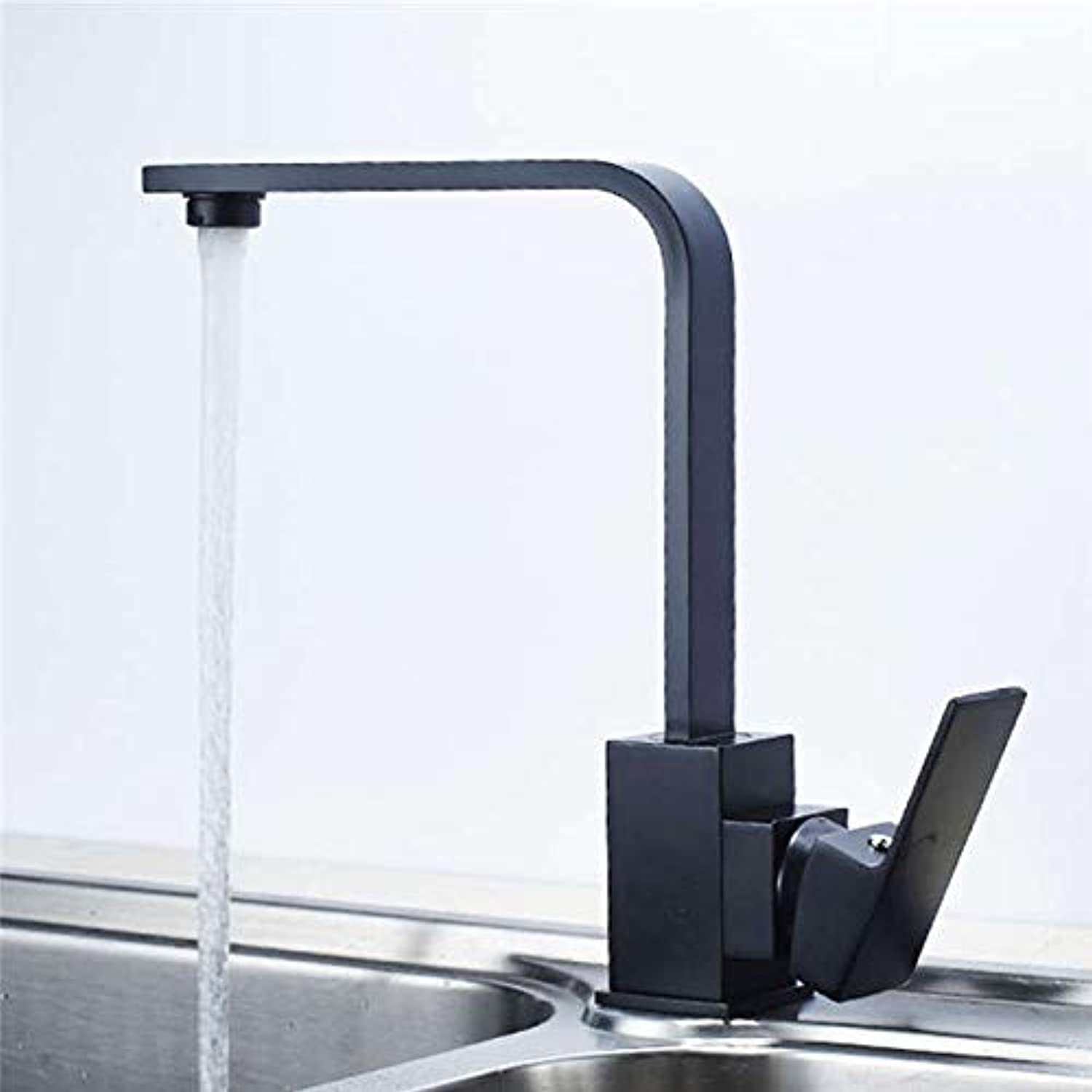 Decorry Kitchen Faucet Black Antique Water Mixer 360 Degree redatable Kitchen Water Taps Cold and Hot Water Sink Faucets Yd-1031