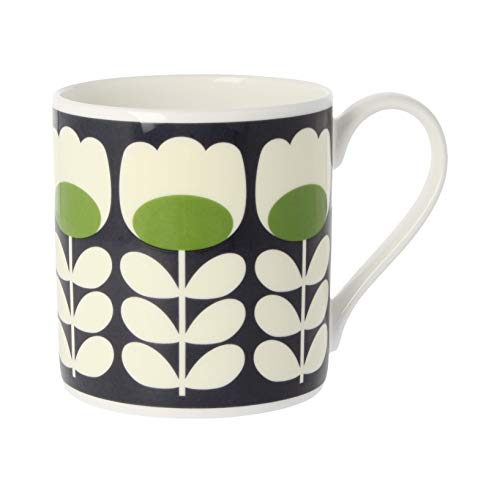 Orla Kiely groene Tulpenstam, fijn bot China mok