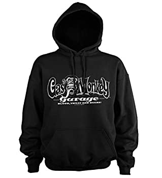 Gas Monkey Garage Officially Licensed White Logo Big & Tall Hoodie  Black  4X-Large