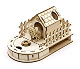 Team Green JIGZLE Paper + 2mm Plywood Wooden 3D Puzzle for Teens and Adults Mechanical Models Kits - Dog House Mini Desktop Organizer with Paper Chihuahua