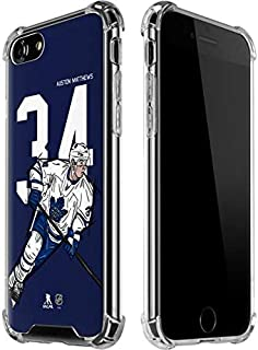 Skinit Clear Phone Case for iPhone 7 - Officially Licensed NHL Players Auston Matthews #34 Action Sketch Design