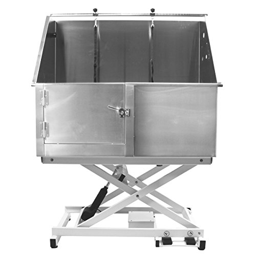 """Flying Pig 50"""" Stainless Steel Professional Electric Lift Pet Grooming Tub"""