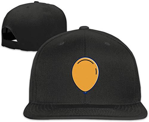Quakess Baseballmütze Ballon Adjustable Flache Schirmmütze für Männer Frauen, Schwarz, OneSize