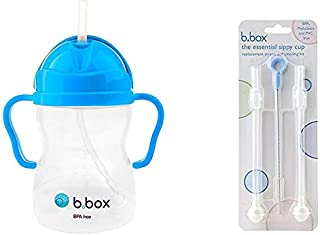 B. Box Essential Sippy Cup - with Replacement Straws and Cleaner (Cobalt)