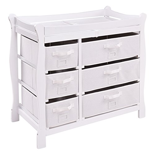 41nfVD7m1EL - Sleigh Style Baby Changing Table Review