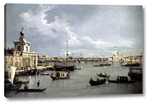 """in Venice by Canaletto - 26"""" x 38"""" Canvas Art Print Gallery Wrapped - Ready to Hang"""